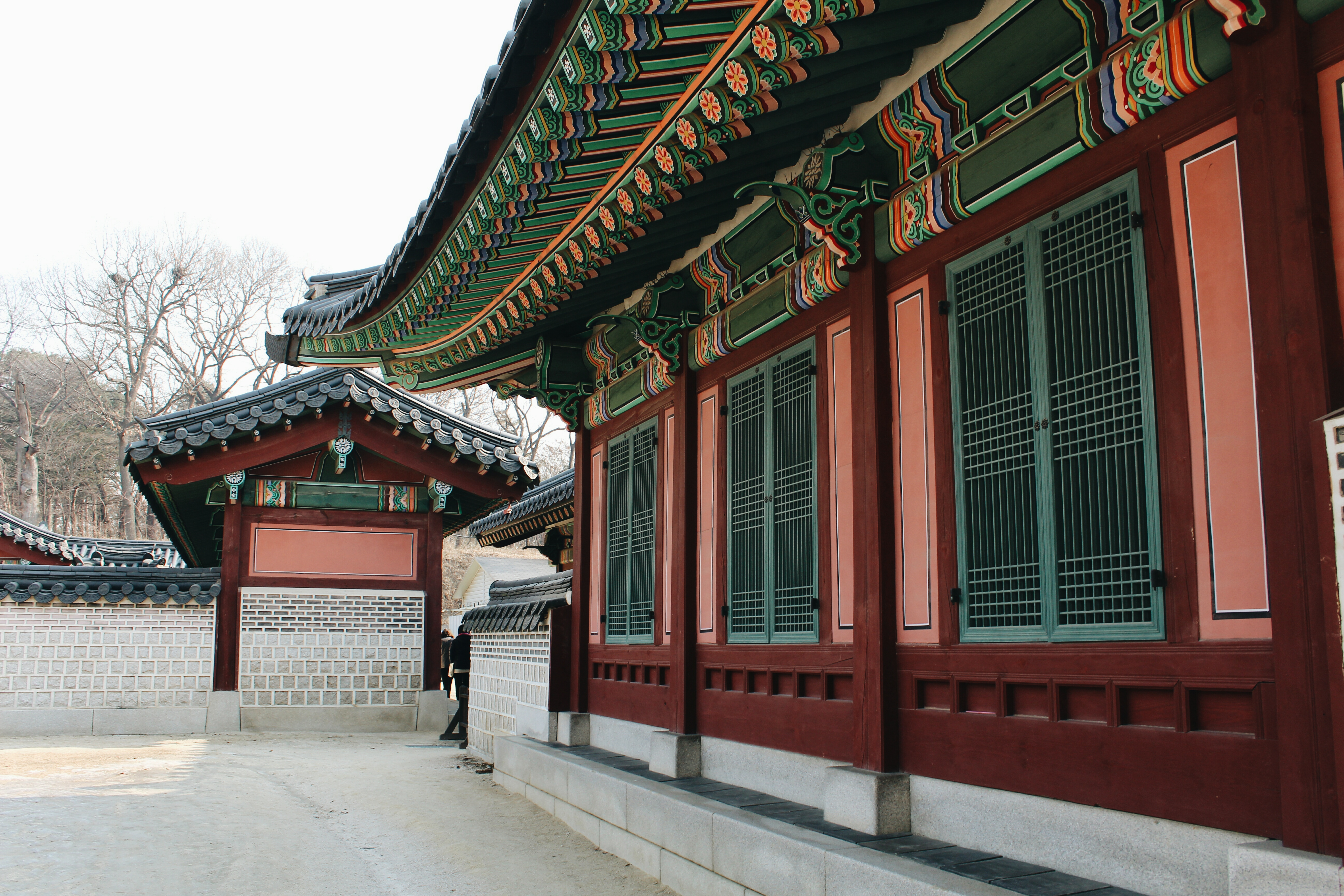 Parts of the beautifully-coloured Changdeokgung palace