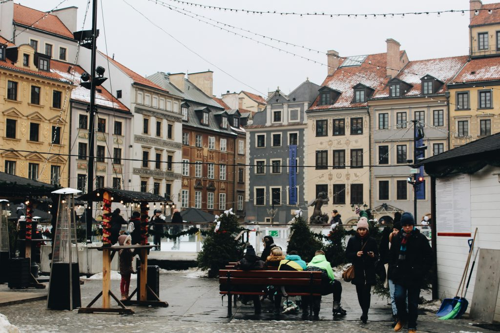 Christmas decorations in Poland.