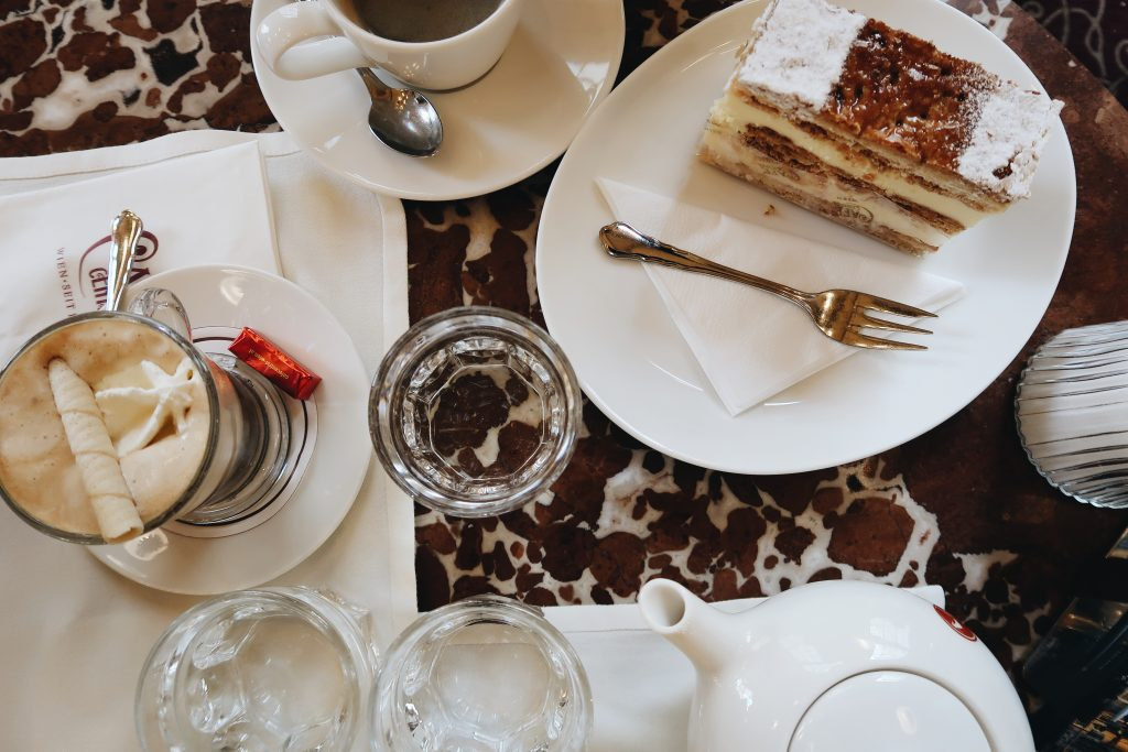 Coffee and desserts at Cafe Central